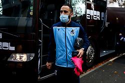 Erhun Oztumer of Bristol Rovers arrives at Rochdale - Mandatory by-line: Robbie Stephenson/JMP - 31/10/2020 - FOOTBALL - Crown Oil Arena - Rochdale, England - Rochdale v Bristol Rovers - Sky Bet League One