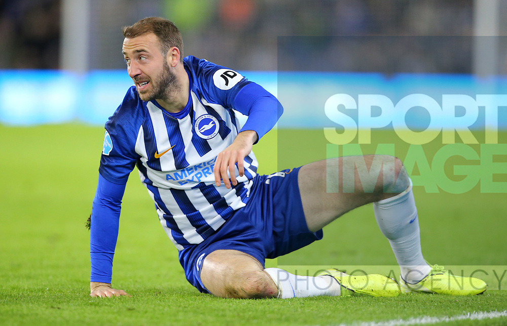Brighton's Glenn Murray during the Premier League match at the American Express Community Stadium, Brighton and Hove. Picture date: 8th February 2020. Picture credit should read: Paul Terry/Sportimage