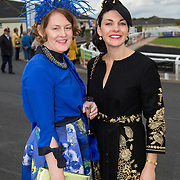 08.10.17.            <br /> Pictured at Limerick Racecourse for the  Keanes Most Stylish Lady competition were, Ann Marie Mitchell and Antoinette O'Connell. Picture: Alan Place