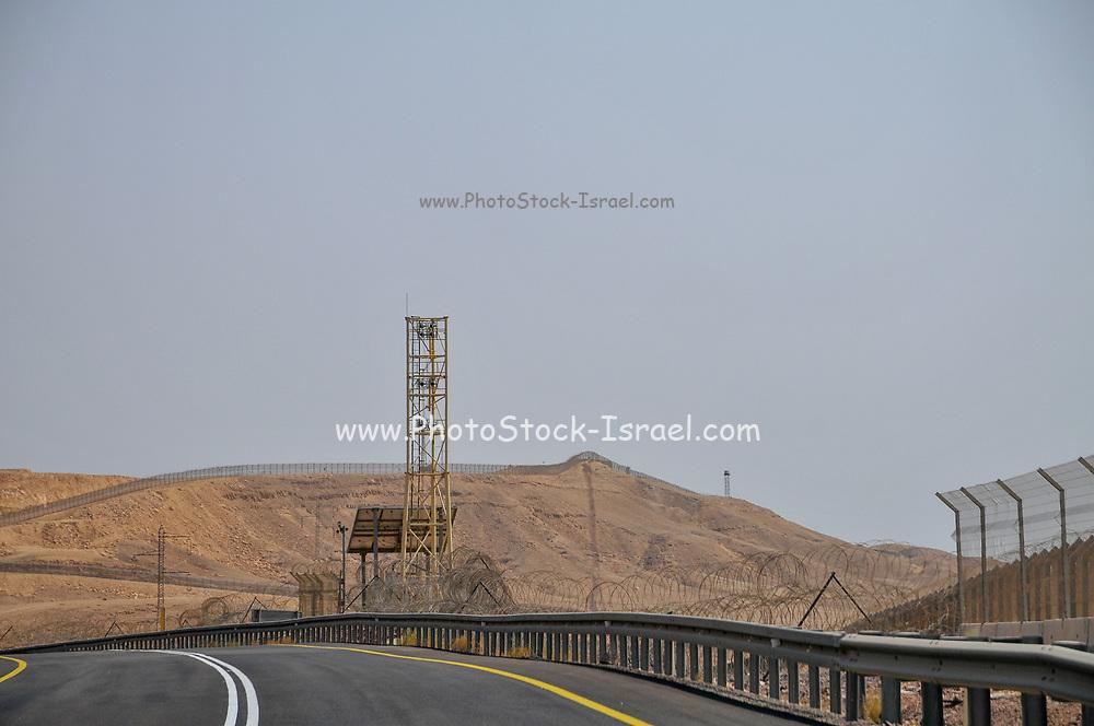The fence of the Israeli, Egyptian border