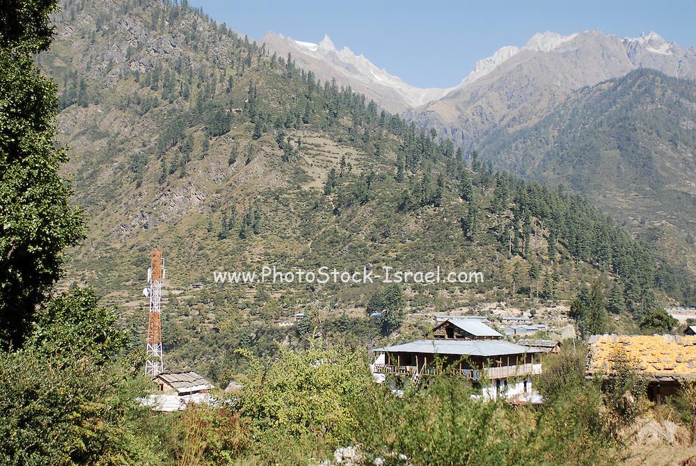 India, landscape of the Himalayan mountain range