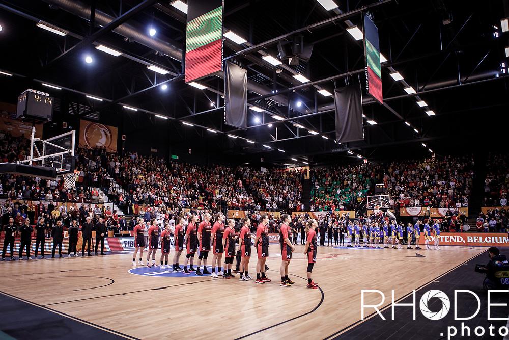 pre game nationaal volkslied <br /> <br /> Belgian Cats kwalificeren zich voor Olympische Spelen in Tokio! <br /> <br /> Day 3: SWEDEN VS BELGIUM : 53-61<br /> <br /> FIBA Women's Olympic Qualifying Tournament 2020 – Ostend,  Belgium<br /> Ostend Versluys Dôme (BEL)<br /> <br /> ©RhodePhotoMedia
