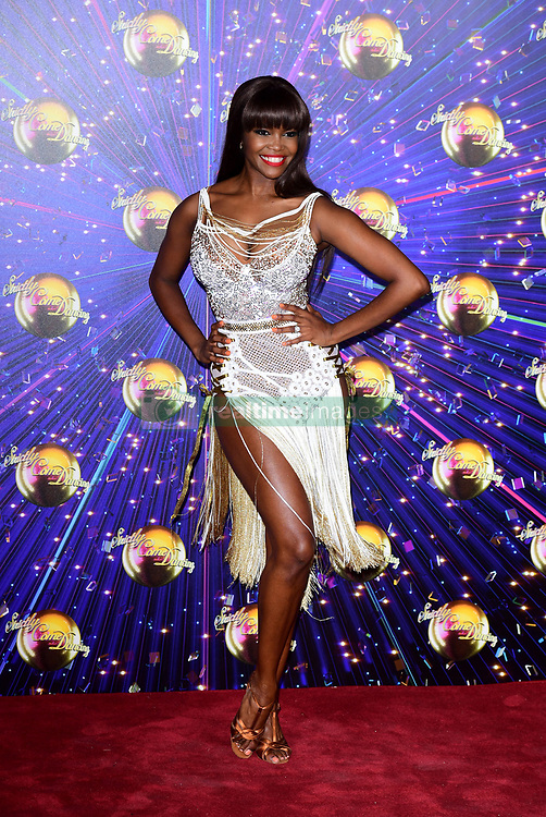 Oti Mabuse arriving at the red carpet launch of Strictly Come Dancing 2019, held at BBC TV Centre in London, UK.