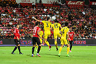 NONTHABURI, THAILAND - JULY 02: Lee Wonyoung of Pattaya United and Nopparat S. of Pattaya United in action during the first half of the Thai League: SCG Muangthong United vs Pattaya United at SCG Stadium, Nonthaburi, Thailand on July 02, 2017.<br /> .<br /> .<br /> .<br /> (Photo by: Naratip Golf Srisupab/SEALs Sports Images)<br /> .<br /> Any image use must include a mandatory credit line adjacent to the content which should read: Naratip Golf Srisupab/SEALs Sports Images