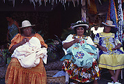 Tahitian women quilting, Papeete, Tahiti<br />