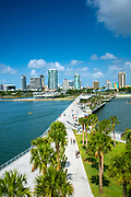 The new Pier District, Saint Petersburg, Florida.