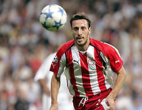 Fotball<br /> Foto: Dppi/Digitalsport<br /> NORWAY ONLY<br /> <br /> UEFA CHAMPIONS LEAGUE 2005/2006<br /> <br /> REAL MADRID v OLYMPIACOS / OLYMPIAKOS<br /> <br /> 28/09/2005<br /> <br /> PANTELIS KAFES (OLY)