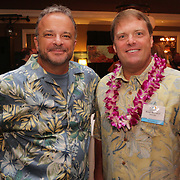Mark Mormando, left, and Brian Mattison pose for a photo Saturday August 2, 2014 during Pipeline to a Cure, a benefit for Cystic Fibrosis at the Country Club of Landfall in Wilmington, N.C. (Jason A. Frizzelle)