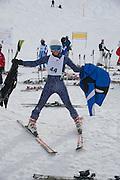 DANIELLA TRAVAILLA, Children and Adult ski race in aid of the Knights of Malta,  Furtschellas. St. Moritz, Switzerland. 23 January 2009 *** Local Caption *** -DO NOT ARCHIVE-© Copyright Photograph by Dafydd Jones. 248 Clapham Rd. London SW9 0PZ. Tel 0207 820 0771. www.dafjones.com.<br /> DANIELLA TRAVAILLA, Children and Adult ski race in aid of the Knights of Malta,  Furtschellas. St. Moritz, Switzerland. 23 January 2009