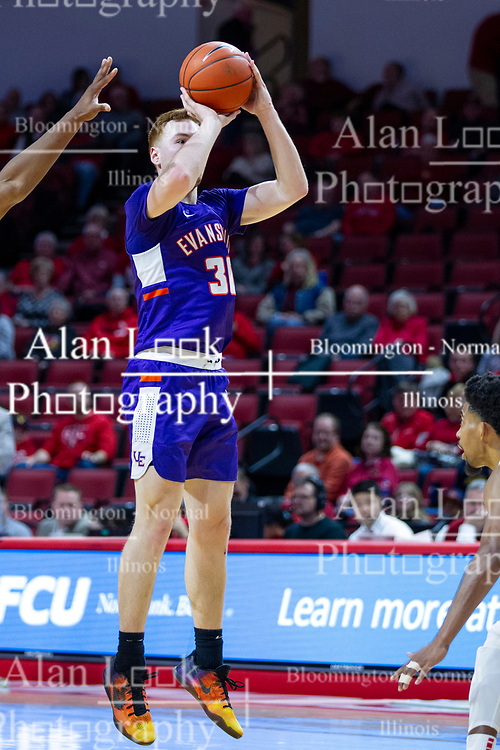 NORMAL, IL - January 29: Noah Freerking during a college basketball game between the ISU Redbirds and the University of Evansville Purple Aces on January 29 2020 at Redbird Arena in Normal, IL. (Photo by Alan Look)