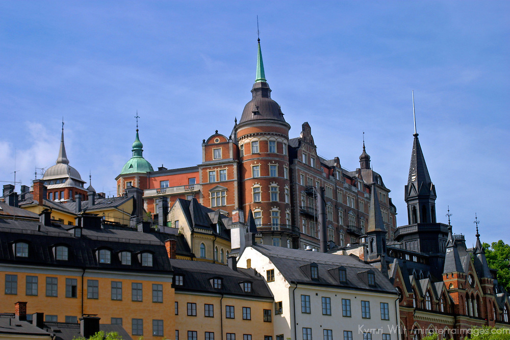 Europe, Sweden, Stockholm. Sodermalm 18th century architecture.