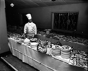 20/04/1970<br /> 04/20/1970<br /> 20 April 1970<br /> Tynagh Mines Dinner Dance at Loughrea, Co. Galway. View of the buffet table.