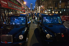 2019-01-21 Taxi drivers block Tottenham Court Road