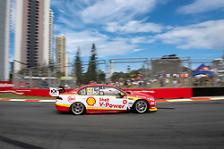 October 19, 2018 - Gold Coast, QLD, U.S. - GOLD COAST, QLD - OCTOBER 19: Tony D'Alberto in the Shell V-Power Racing Team Ford Falcon during Friday practice at The 2018 Vodafone Supercar Gold Coast 600 in Queensland on October 19, 2018. (Photo by Speed Media/Icon Sportswire) (Credit Image: © Speed Media/Icon SMI via ZUMA Press)