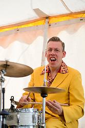 John Hurley on Drums..9 September 2012.Image © Paul David Drabble