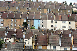 © Licensed to London News Pictures. 17/11/2014. Property in Chatham in Medway,Kent. House prices fall 1.7%. The price of property coming onto the market fell by 1.7% to mid-November according to today's report from the Rightmove House Price Index.  (Byline:Grant Falvey/LNP)