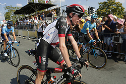 July 8, 2018 - La Roche-Sur-Yon, France - MARTIN Daniel of UAE-Team Emirates during stage 2 of the 105th edition of the 2018 Tour de France cycling race, a stage of 182.5 kms between Mouilleron - Saint-Germain and La Roche-Sur-Yon on July 08, 2018 in La Roche-Sur-Yon, France, 8/07/18 (Credit Image: © Panoramic via ZUMA Press)