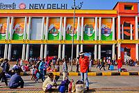 Inde, Delhi, station de train de New Delhi // India, Delhi, New Delhi, train station