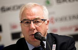Dave Henderson, head coach of France during press conference after the 2017 IIHF Men's World Championship group B Ice hockey match between National Teams of France and Slovenia, on May 15, 2017 in AccorHotels Arena in Paris, France. Photo by Vid Ponikvar / Sportida