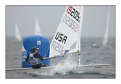 Anna Tunnicliffe, USA 192050.Opening races in breezy conditions for the Laser Radial World Championships, taking place at Largs, Scotland GBR. ..118 Women from 35 different nations compete in the Olympic Women's Laser Radial fleet and 104 Men from 30 different nations. .All three 2008 Women's Laser Radial Olympic Medallists are competing. .The Laser Radial World Championships take place every year. This is the first time they have been held in Scotland and are part of the initiaitve to bring key world class events to Britain in the lead up to the 2012 Olympic Games. .The Laser is the world's most popular singlehanded sailing dinghy and is sailed and raced worldwide. ..Further media information from .laserworlds@gmail.com.event press officer mobile +44 7775 671973  and +44 1475 675129 .