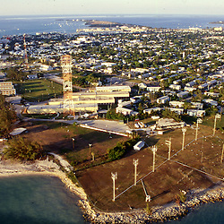 Aerial photographs of Fort Zackery, Key West