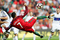 August 31, 2017 - Venice, Porto, Italy - Portugal's forward Cristiano Ronaldo score a goal during the FIFA World Cup Russia 2018 qualifier match between Portugal and Faroe Islands at Bessa Sec XXI Stadium on August 31, 2017 in Porto, Portugal. (Credit Image: © Dpi/NurPhoto via ZUMA Press)