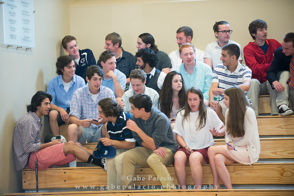 The Harvey School Upper School Awards Assembly in the Athletic Center at The Harvey School on May 12, 2015. (photo by Gabe Palacio)