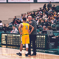 3rd year guard, Kameron Vales (3) of the Regina Cougars during the Men's Basketball Home Game on Fri Nov 02 at Centre for Kinesiology,Health and Sport. Credit: Arthur Ward/Arthur Images