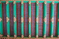 Ouzbekistan, Samrakand, classe patrimoine mondial de l Unesco, necropole Chah I Zinde, plafond de la mosquee // Uzbekistan, Samarkand, Unesco World Heriatge, Chah I Zinde necropolis, mosque roof