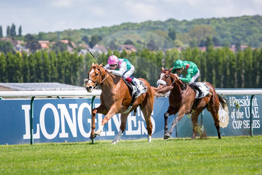 FINCHE (V. Cheminaud) wins Prix du Dragon 14/05/2017 in Deauville, France, photo: Zuzanna Lupa / Racingfotos.com
