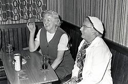Elderly women in pub, Nottingham UK 1980
