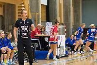 Håndball<br /> 16. Oktober 2014<br /> GRUNDIGligaen<br /> Haukelandshallen<br /> Tertnes - Byåsen<br /> Byåsen trener Claus Mogensen<br /> Foto Astrid M. Nordhaug