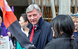 """Pictured: Richard Leonard<br /><br />Scottish Labour leader Richard  Leonard and health spokeswoman Monica Lennon joined NHS workers to lobby Parliament to pay Hairmyres hospital staff """"what they are due"""". Ger Harley 