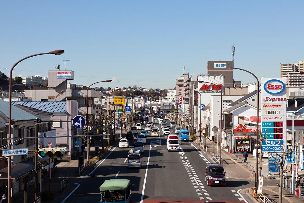 a thorough expressway in Yokosuka Japan