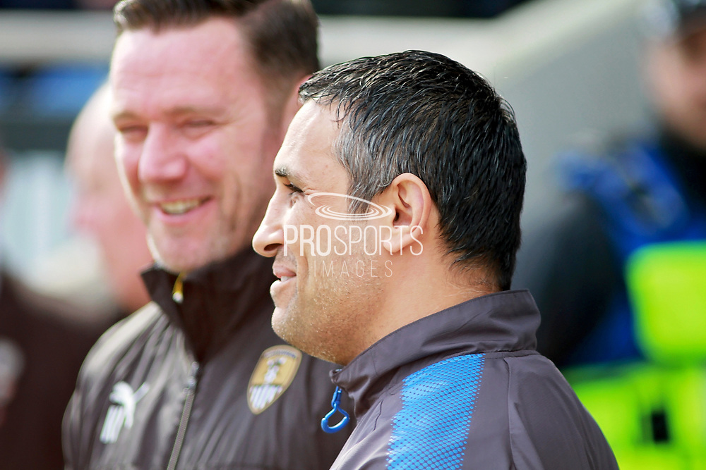 Chesterfield manager Jack Lester  before the EFL Sky Bet League 2 match between Chesterfield and Notts County at the Proact stadium, Chesterfield, England on 25 March 2018. Picture by Nigel Cole.