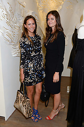Left to right, LAVINIA BRENNAN and LADY NATASHA RUFUS-ISAACS at a preview evening of the Leon Max Autumn Winter Collection 2013 held at Leon Max, 229 Westbourne Grove, London W11 on 24th September 2013.