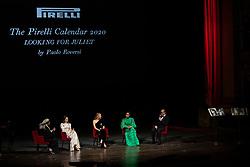Whoopi Goldberg, Claire Foy, Mia Goth, Yara Shahidi, Paolo Roversi attend the presentation of the Pirelli 2020 Calendar Looking For Juliet at Teatro Filarmonico on December 3, 2019 in Verona, Italy. Photo by Marco Piovanotto/ABACAPRESS.COM