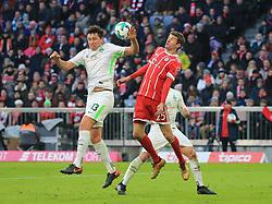 20180121, 1.BL, FC Bayern vs Werder Bremen, Allianz Arena Muenchen, Fussball, Sport, im Bild:..Milos Veljkovic (Bremen) vs Thomas Mueller (FCB)...*Copyright by:  Philippe Ruiz..Postbank Muenchen.IBAN: DE91 7001 0080 0622 5428 08..Oberbrunner Strasse 2.81475 MŸnchen, .Tel: 089 745 82 22, .Mobil: 0177 29 39 408..( MAIL:  philippe_ruiz@gmx.de ) ..Homepage: www.sportpressefoto-ruiz.de. (Credit Image: © Philippe Ruiz/Xinhua via ZUMA Wire)