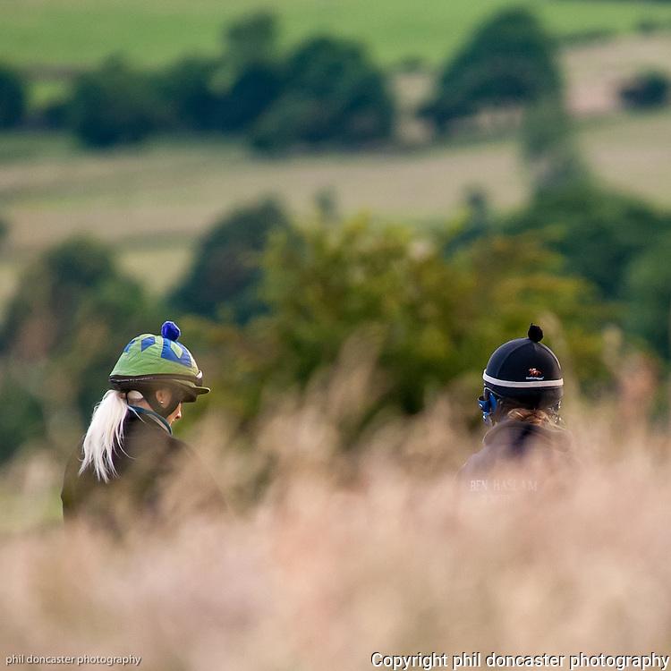 Ladies on Middleham Gallops, Yorkshire