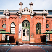 Main building of the Eastern Market in Washington DC's Capitol Hill district. The historic building was badly damaged in a 2007 fire and has since been repaired and renovated.