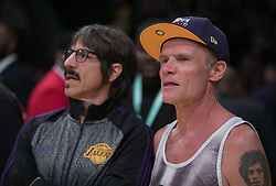 October 20, 2018 - Los Angeles, California, U.S - Flea attends the NBA game between the Los Angeles Lakers and the Houston Rockets on Saturday October 20, 2018 at the Staples Center in Los Angeles, California. (Credit Image: © Prensa Internacional via ZUMA Wire)