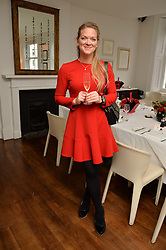 ALICE JÓNSDÓTTIR FERRIER at a lunch to promote the jewellery created by Luis Miguel Howard held at Morton's, Berkeley Square, London on 20th October 2016.