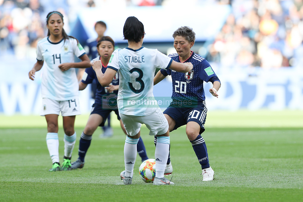 June 10, 2019: Paris, France: Eliana Stabileof Argentina and Yokoyama  of Japan game valid for group D of the first phase of the Women's Soccer World Cup in the Parc Des Princes. (Credit Image: © Vanessa Carvalho/ZUMA Wire)