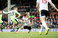 Wolverhampton Wanderers striker Andreas Weimann (63) scores a goal (score 0-2) during the EFL Sky Bet Championship match between Fulham and Wolverhampton Wanderers at Craven Cottage, London, England on 18 March 2017. Photo by Andy Walter.