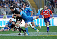 Rome, Italy -In the photo Savea opposed by Gori during .Olympic stadium in Rome Rugby test match Cariparma.Italy vs New Zealand (All Blacks). (Credit Image: © Gilberto Carbonari).