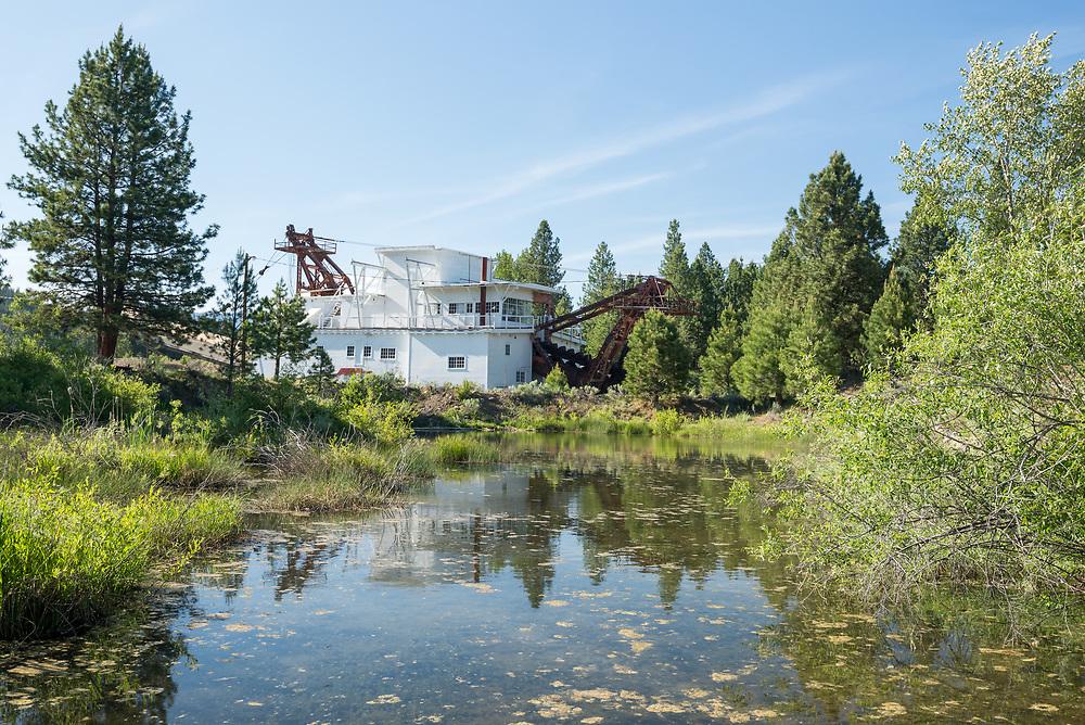 Old gold dredge in Sumpter, Oregon.