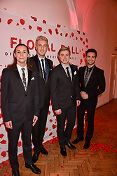 Collabro at the Floral Ball in aid of Sheba Medical Center hosted by Laura Pradelska and Zoe Hardman and held at One Marylebone, 1 Marylebone Road, London England. 14 March 2017.