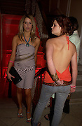 Peaches and Pixie Geldof. Paris Hilton's Fragrance Launch Party at Il Bottaccio, Grosvenor Place. London. 16 May 2005. . ONE TIME USE ONLY - DO NOT ARCHIVE  © Copyright Photograph by Dafydd Jones 66 Stockwell Park Rd. London SW9 0DA Tel 020 7733 0108 www.dafjones.com