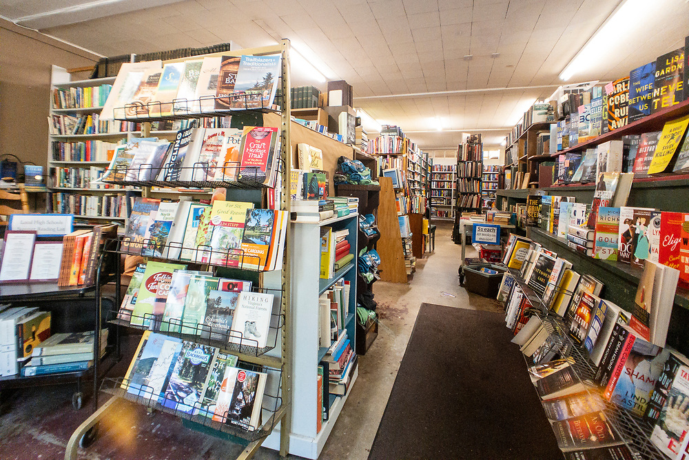 Wall Street Books, a used bookstore in downtown Waynesville, North Carolina on Friday, August 14, 2020. Copyright 2020 Jason Barnette
