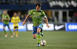 March 1, 2018 - Seattle, Washington, U.S - Soccer 2018: Sounders midfielder NICO LODEIRO (10) in action as Santa Tecla FC visits the Seattle Sounders for a CONCACAF match at Century Link Field in Seattle, WA. (Credit Image: © Jeff Halstead via ZUMA Wire)